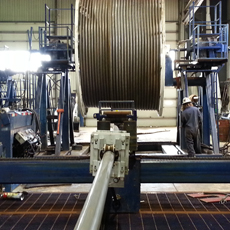 Coiled Tubing Inspection in Plant
